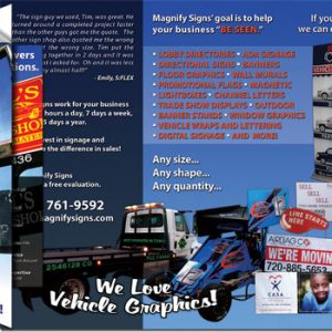 Magnify Signs Trifold Brochure
