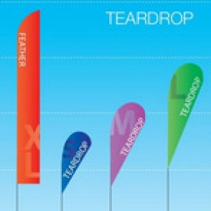 teardrop & feather flags