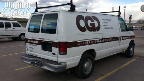 Contractor vehicle graphics Englewood CO