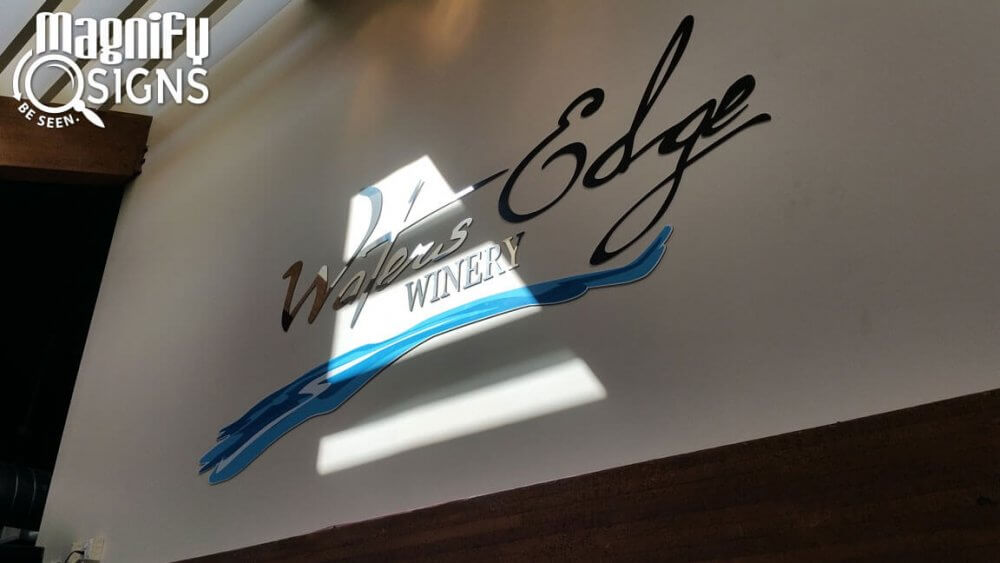 Waters Edge Winery's New Lobby Sign Invites in Centennial CO!