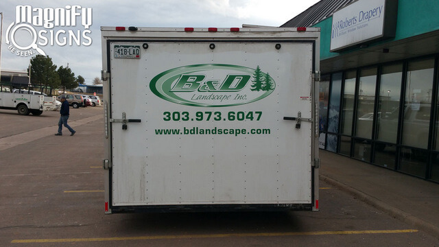 Vehicle Vinyl Lettering for Contractors in Englewood CO