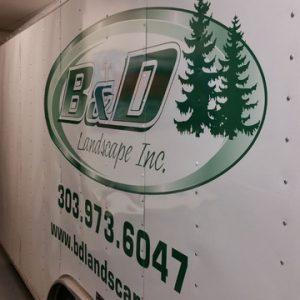 side lettering on enclosed trailer