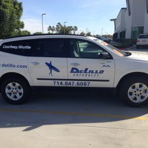Shuttle Vehicle Vinyl Lettering Denver