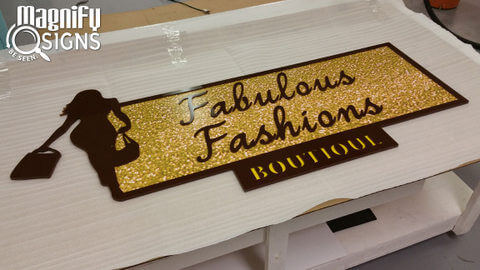 Fabulous Fashions Boutique's New Lobby Sign (Shipped to Nebraska!)
