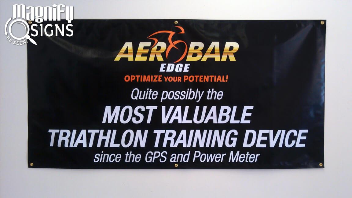Aerobar Edge Banner Custom Business Signs Interior
