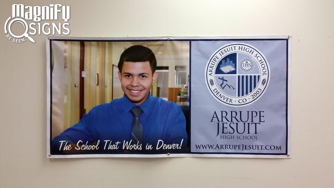 Arrupe Jesuit High School Banner 2 Custom Business Signs