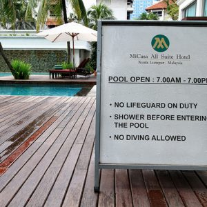 Pool Post & Pannel Sign