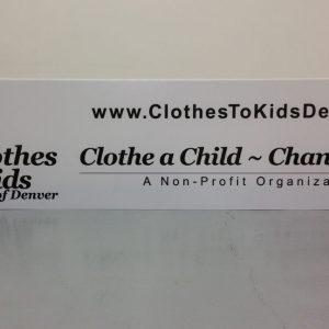 Non Profit Signs Denver Metro Area