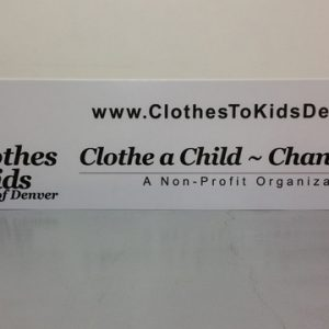 Lightbox cabinet signs for non profits in Denver