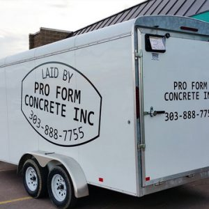 Die Cut Vinyl Trailer Lettering for Denver Contractors