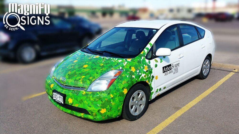 Arborscape Goes Green With Toyota Prius Partial Vehicle Wraps