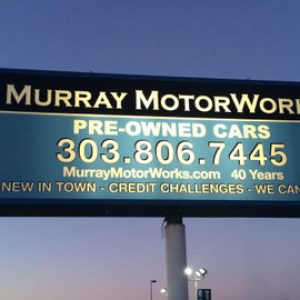 Exterior Signs for Auto Dealers on Broadway