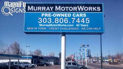 Murray Motors Lightbox Custom Business Signs Interior