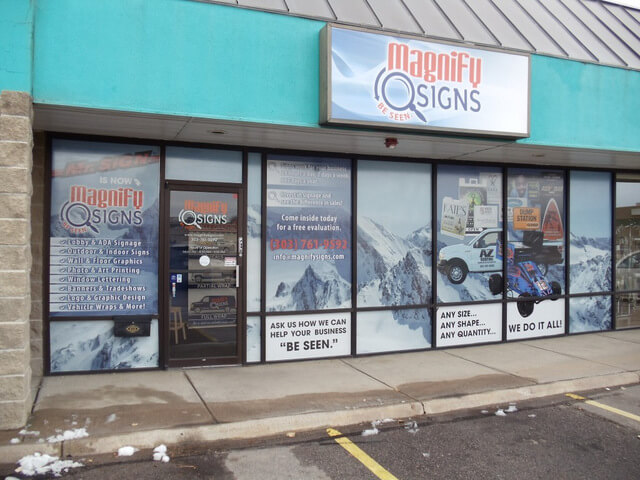 Vinyl Window Graphics Denver Metro Area