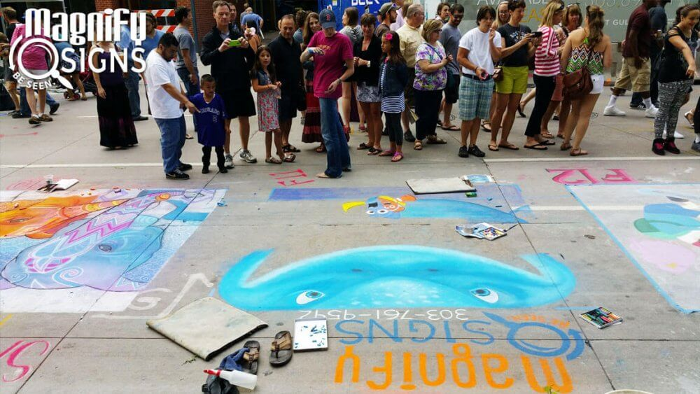 Magnify Signs at the Denver Chalk Art Festival