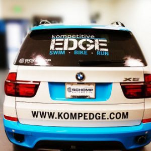 BMW back car wrap