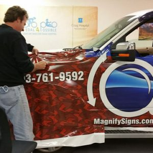 Vehicle Wrap installation Denver