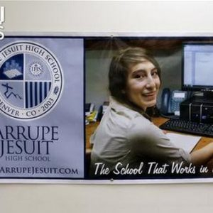 Custom vinyl banners for Denve Schools
