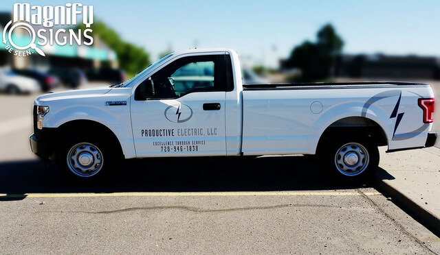 Fleet vehicle truck lettering Englewood CO