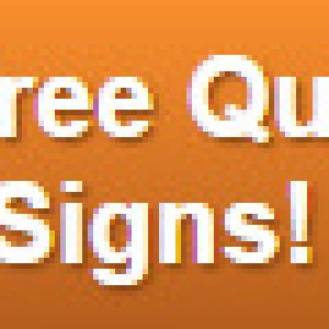 Free quote on monument signs