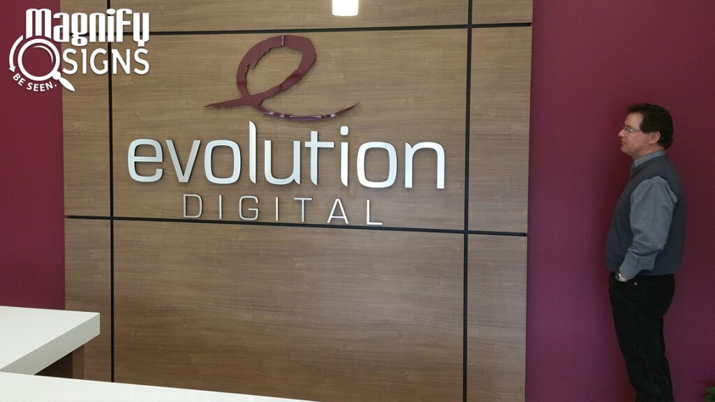 Evolution Digital Acrylic Lobby Sign