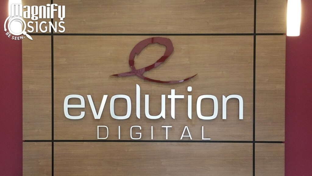 Evolution Digital Acrylic Lobby Sign 2