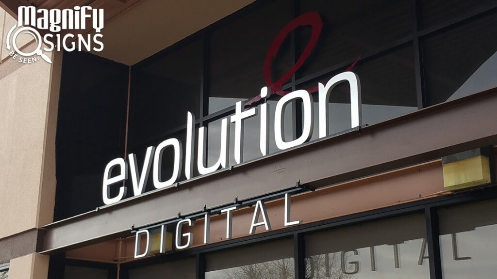 Evolution Digital Exterior Aluminum Sign