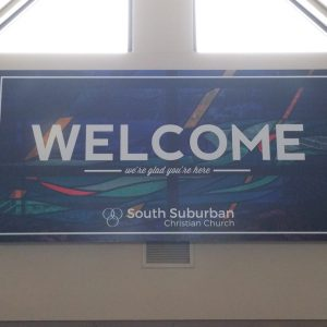 Acrylic Sign at South Suburban Church in Englewood,CO