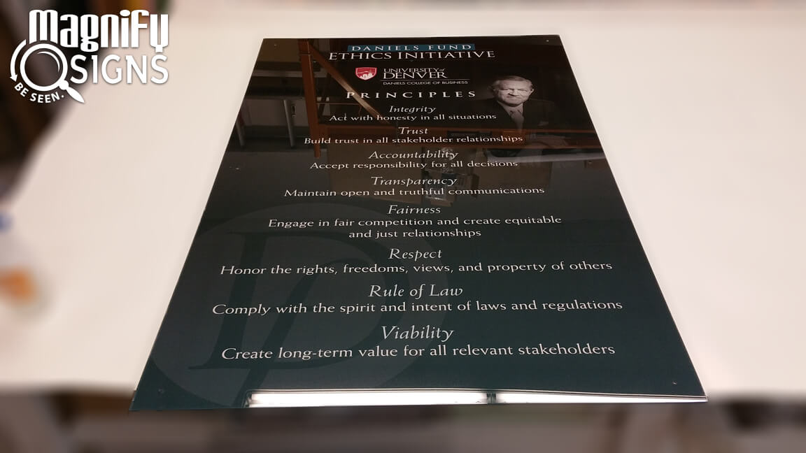 University Of Denver Acrylic Sign Custom Business Signs