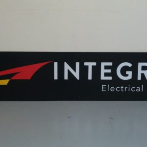 Aluminum sign for Integrity Electrical