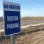 Aluminum sign for MIKRON
