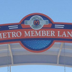 Aluminum sign for Metro Express