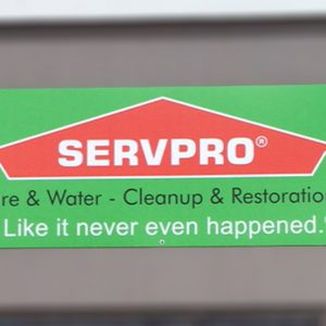 Aluminum sign for ServPro