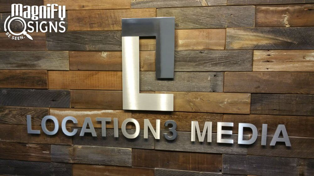 Location 3 Lobby Sign Custom Business Signs Interior