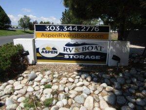 Aspen RV & Boat Storage Monument Sign