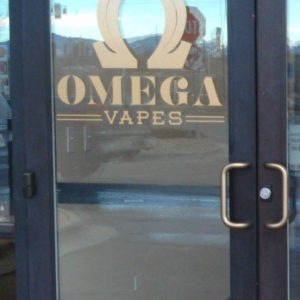 Cut Vinyl sign for Omega Vapes in Denver, CO