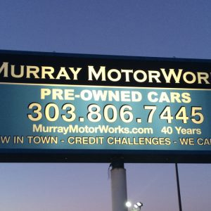 Light Cabinet Sign Murray Motors