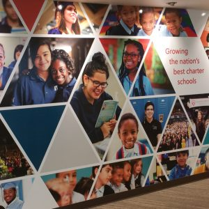 Wall Mural Sign for Charter School Growth Fund