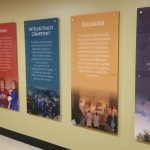 Acrylic panel signs for Arrupe Jesuit High School in Denver, CO