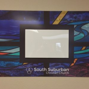 Custom Acrylic sign for South Suburban Church in Littleton, CO
