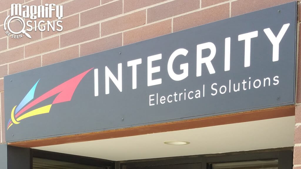 Exterior Custom Aluminum sign for Integrity Electric Solutions in Golden, CO