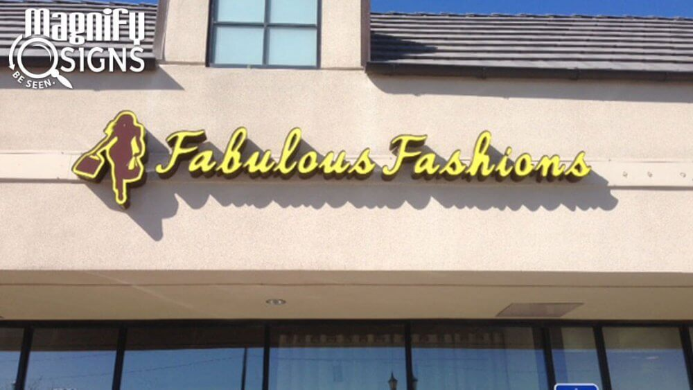 Fabulous Fashions Channel Letters – Custom Business Signs