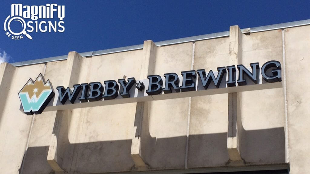 LED Channel Letters sign for Wibby Brewing in Longmont, CO