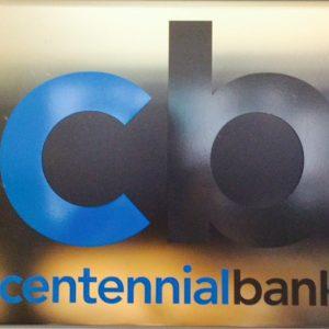 Custom Cut Vinyl Glass Sign for Centennial Bank in Centennial, CO