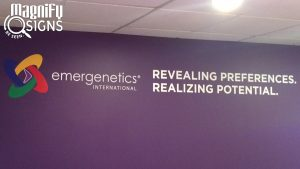 Cut Vinyl Logo and Lettering for Emergenetics in Centennial, CO