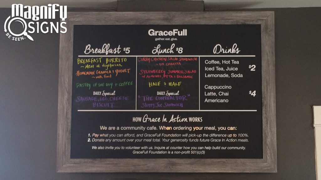 Custom Cut Vinyl Sign for GraceFull Cafe in Littleton, CO