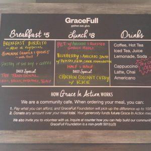 Custom Cut Vinyl Sign for GraceFull Cafe in Littleton, CO