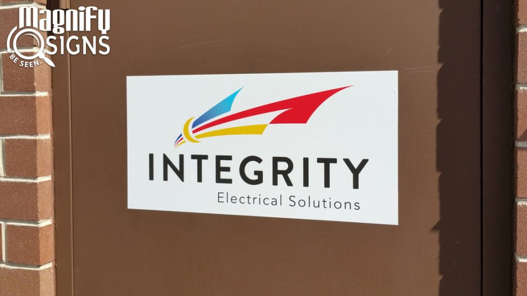 Custom Print Vinyl sign for Integrity Electric in Golden, CO