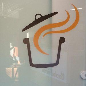 Custom Cut Vinyl Logo sign for Uncorked Kitchen in Centennial, CO