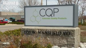 LED Light Cabinet sign for CQP in Sheridan, CO